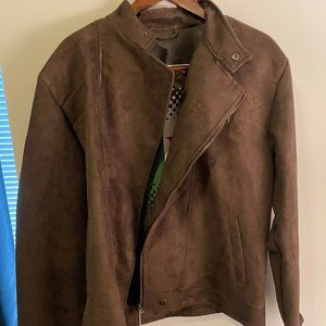 VG World Collection Brown Suede Leather Jacket